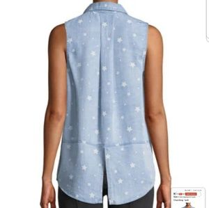 32918431 Velvet Heart Tops - Neiman Marcus Velvet Heart Star Print Chambray Top